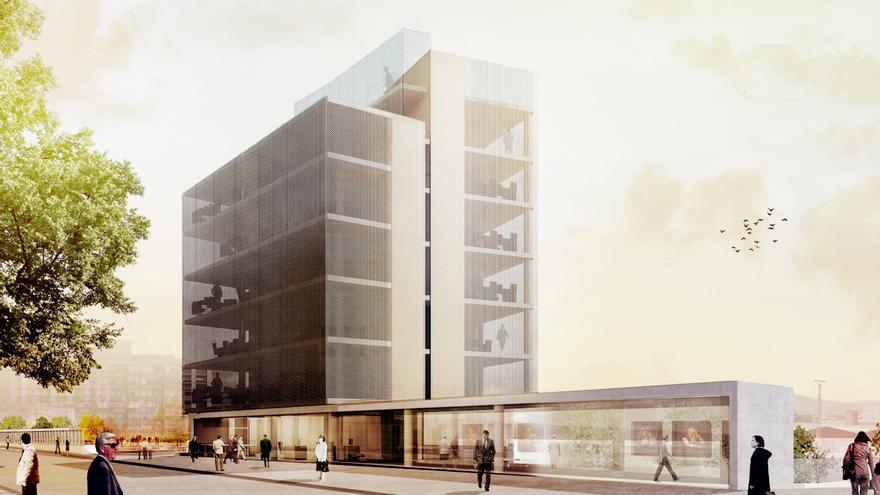 Infografía del proyecto de construcción del Centro de Emprendedores de Torrelavega. | RODRÍGUEZ ALCOBA