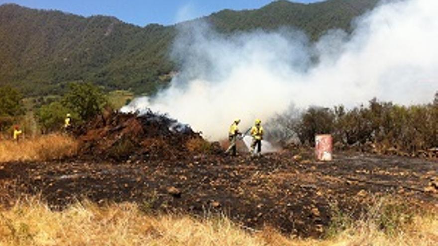 Imagen del fuego registrado en El Paso.