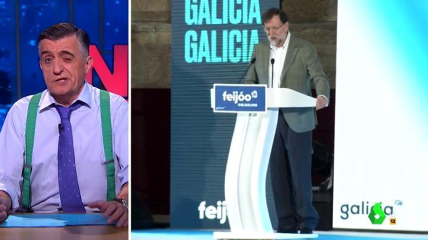 Wyoming bromeó con la reaparición de Rajoy