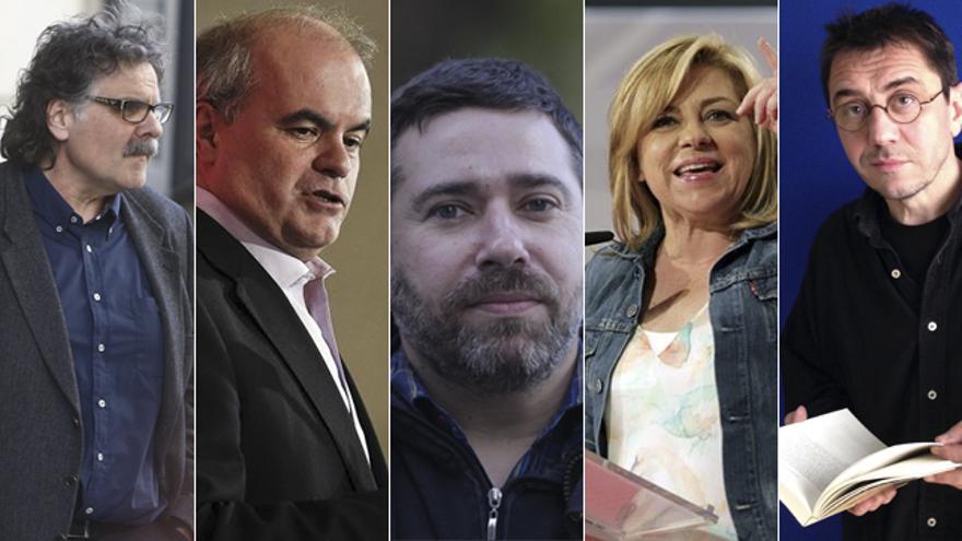 Tardá, Gorriarán, Couso, Valenciano y Monedero