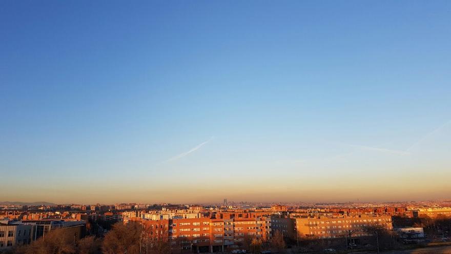 Imagen de la polución en Madrid el 29 de diciembre.