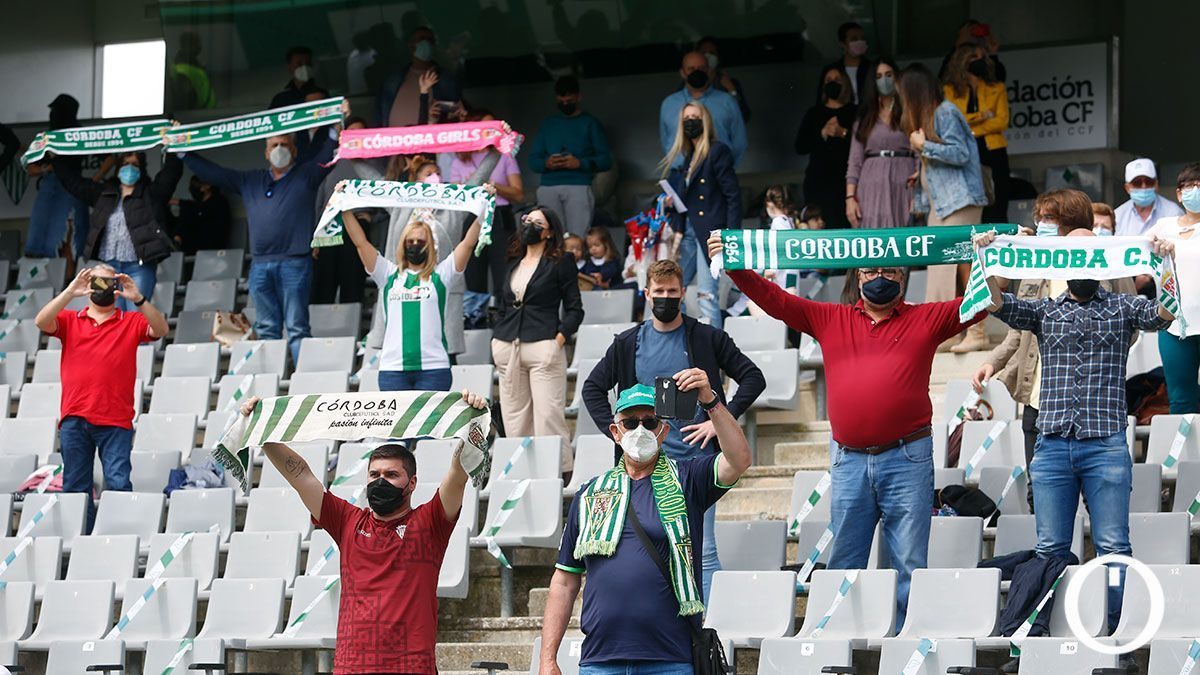 Aficionados del Córdoba en un partido