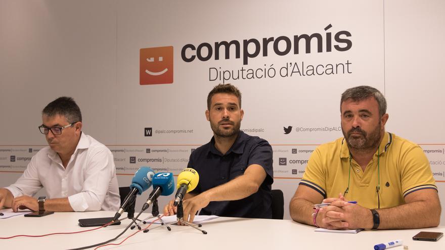 Representantes de Compromís en la Diputación de Alicante.