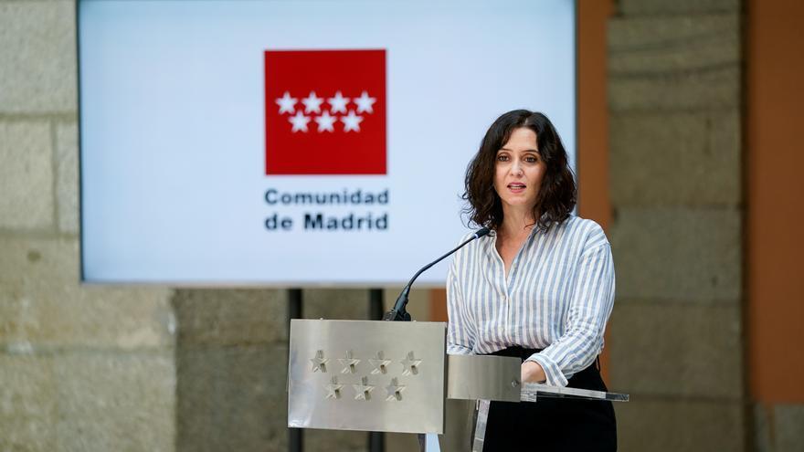 La presidenta de la Comunidad de Madrid en funciones, Isabel Díaz Ayuso