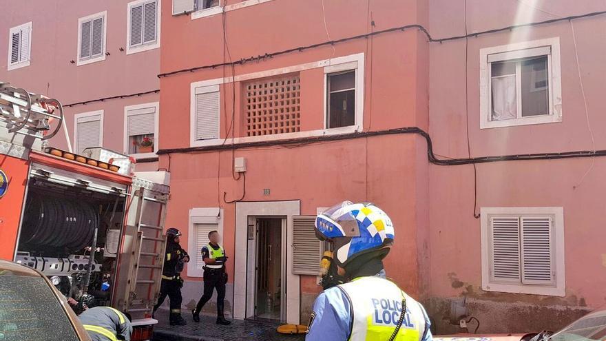 Incendio en una vivienda de Las Palmas de Gran Canaria