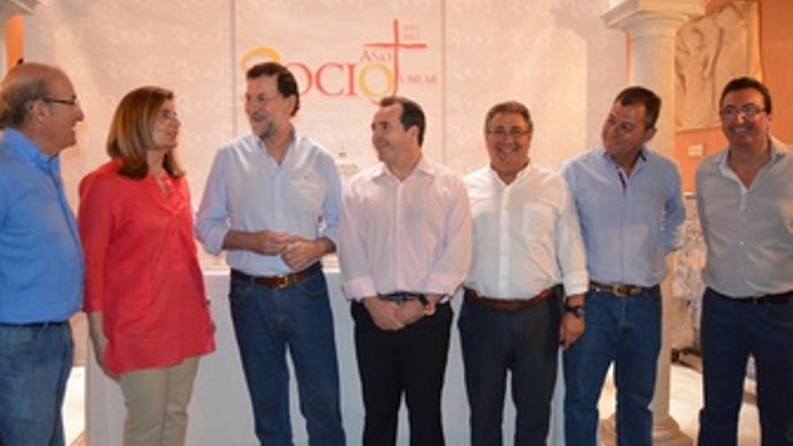 Mariano Rajoy, en su visita al Ayuntamiento de Almonte este sábado