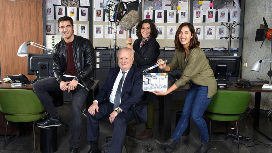"""Primera imagen de los """"Desaparecidos"""" de Telecinco, con Juan Echanove y Elvira Mínguez"""