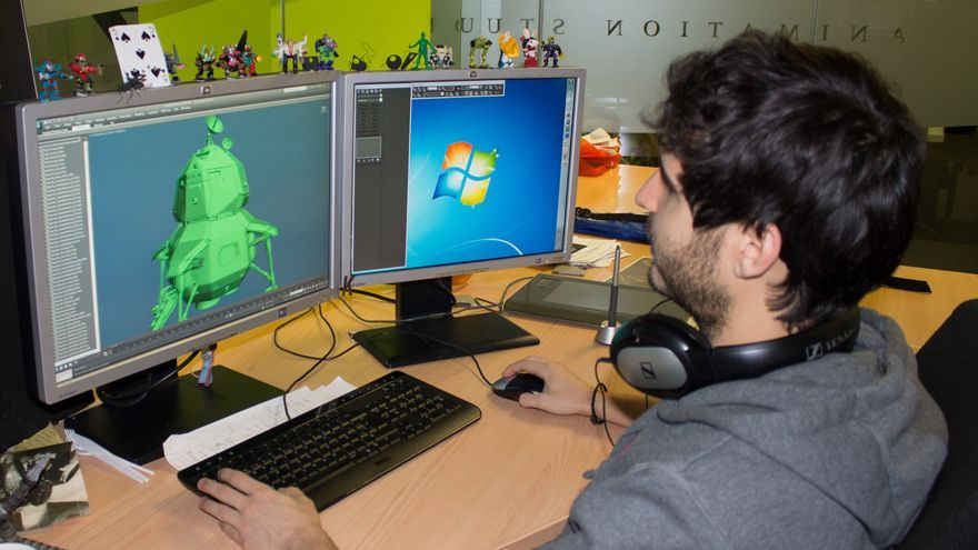 2.Jorge Kirschner, modelador senior en Ilion Animation Studios (Foto: Lucía El Asri)