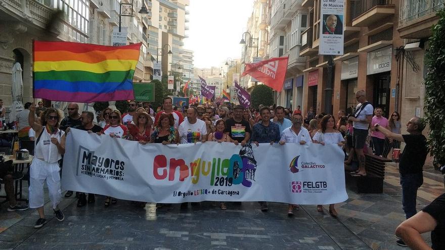 Manifestación del colectivo LGTBI en Cartagena