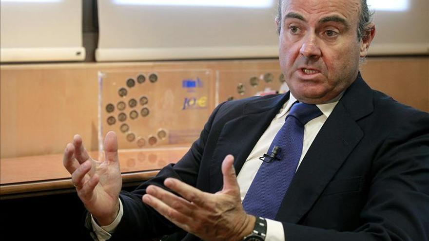 """De Guindos dice que España demuestra """"la calidad de las políticas"""" en la eurozona"""