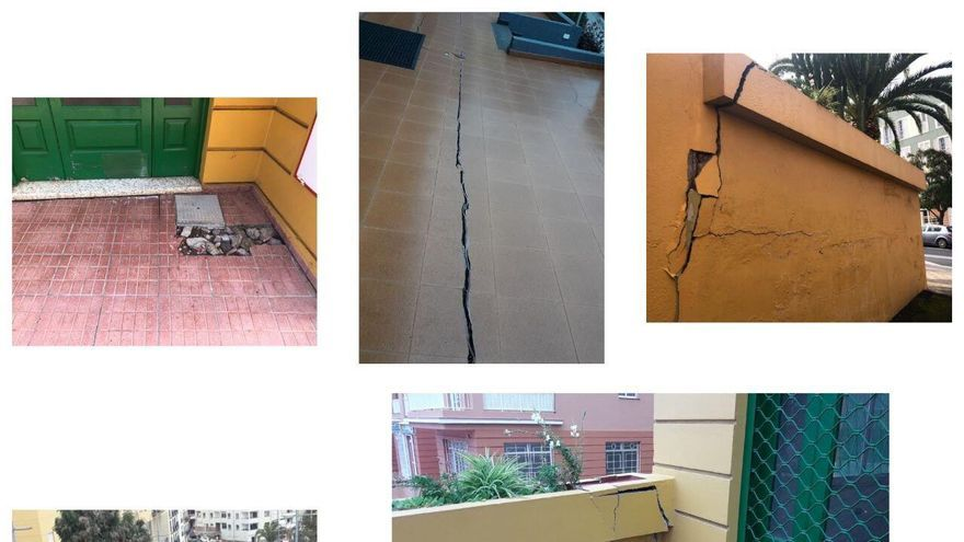 Imágenes de otros impactos en inmuebles colindantes a la avenida de Canarias