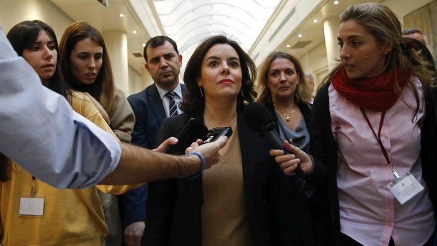 S.Santamaría acusa a Iglesias de sembrar discordia con reforma Constitución