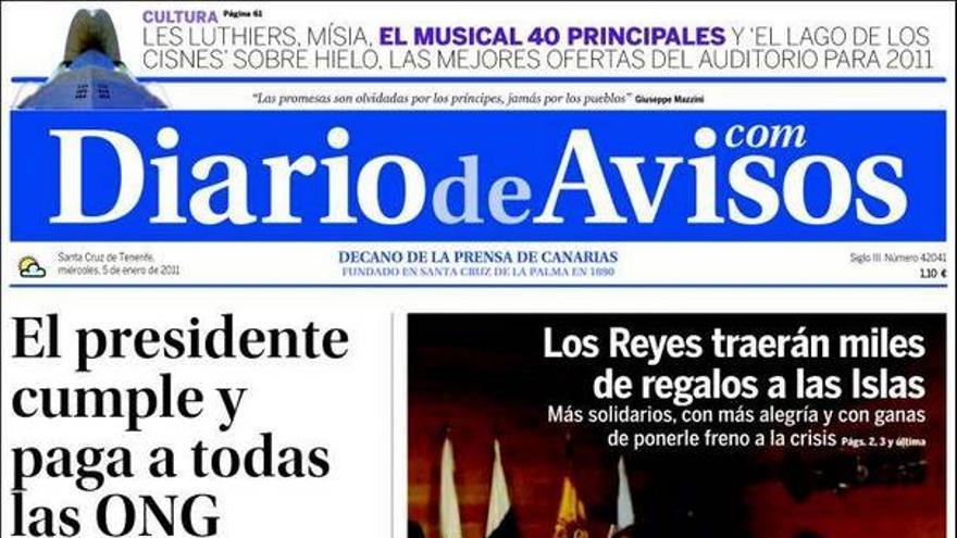 De las portadas del día (05/01/2011) #2
