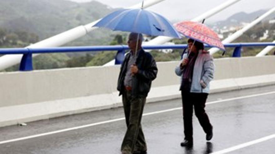 Lluvias en Gran Canaria durante el sábado. (ACFI PRESS)