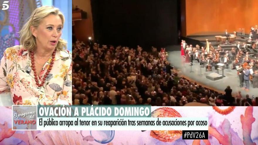 """La periodista Mariángel Alcázar, sobre Plácido Domingo: """"No quiero ir más allá, pero yo no hubiera aplaudido"""""""