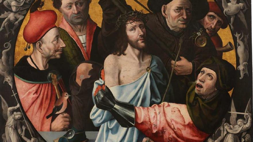 El Bosco (1516) 'La Coronación de espinas o las Injurias a Cristo'