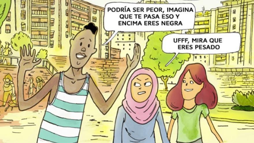 Viñeta del cómic Las Afueras, ilustrado por Manu Ripoll | Fundación Al Fanar