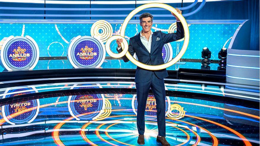 Jorge Fernández en el plató de 'El juego de los anillos'