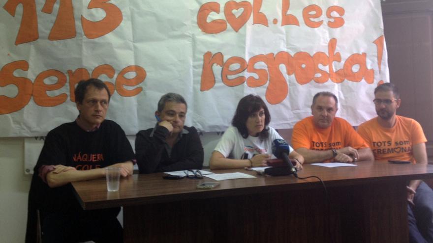 Los representantes de Fapa-Valencia en rueda de prensa
