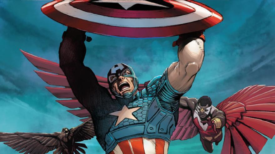 Captain America Vol 7, portada de Carlos Pacheco