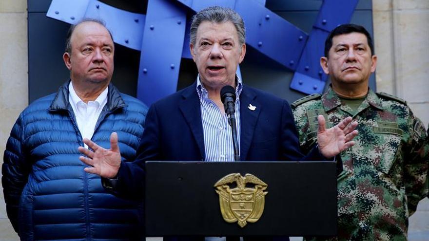 Santos dice que está dejando una Colombia en paz y más equitativa