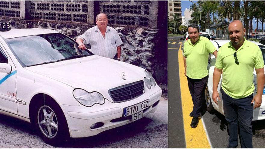 A la izquierda, Lionel Pérez. En la foto de la derecha, Carlos Pérez (en primer plano) y su hermano Leo.