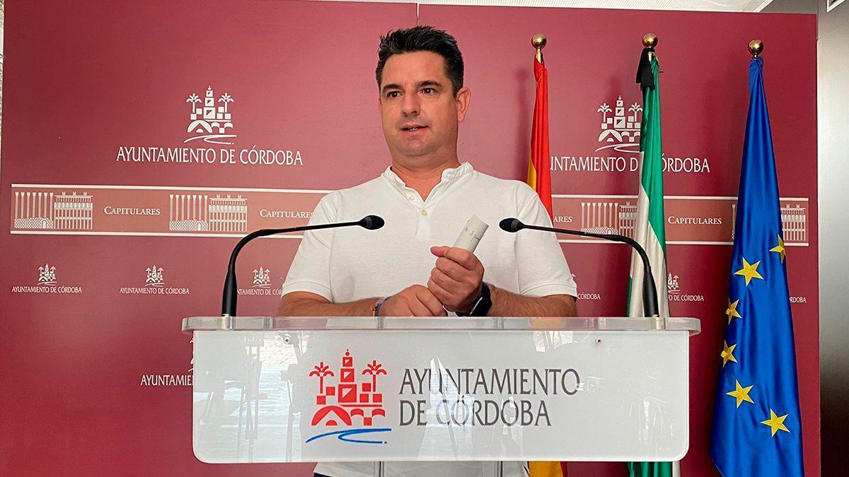 El portavoz de IU en el Ayuntamiento de Córdoba, Pedro García.