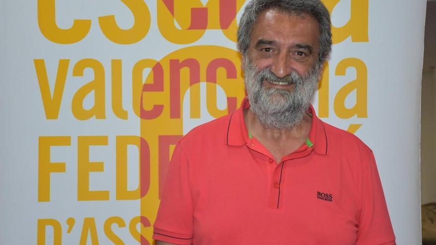 El president d'Escola Valenciana, Natxo Badenes.
