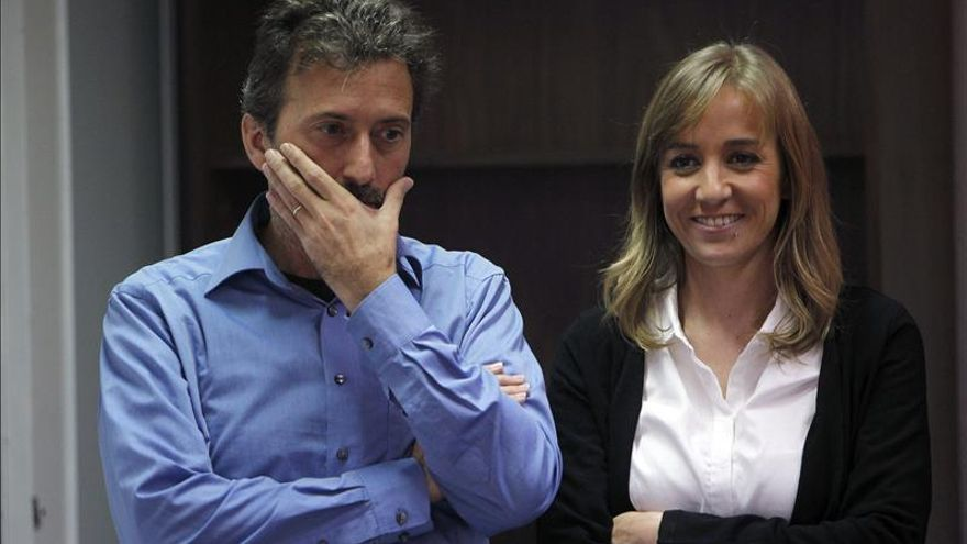Mauricio Valiente y Tania Sánchez, candidatos de IU al Ayuntamiento y la Comunidad de Madrid