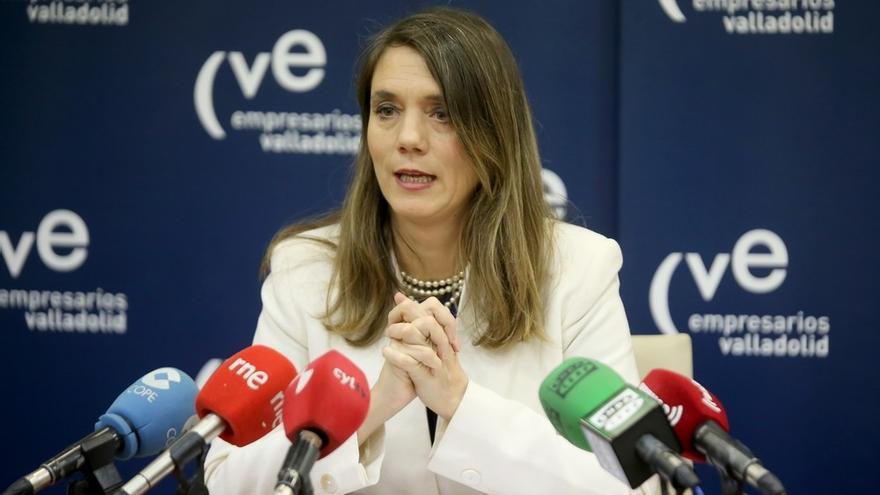 La presidenta de la Confederación Vallisoletana de Empresarios, Ángela de Miguel.