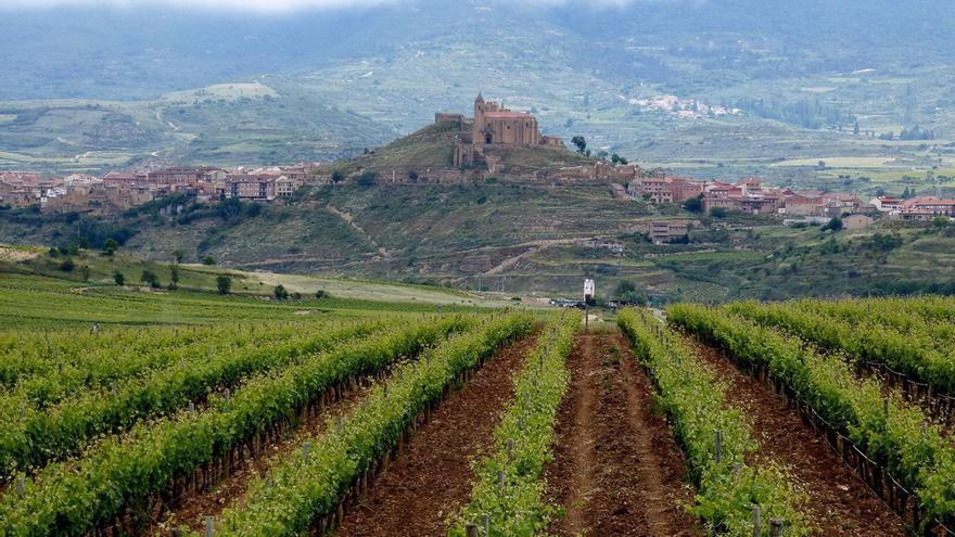 El pueblo del Briones visto desde el Museo del Vino