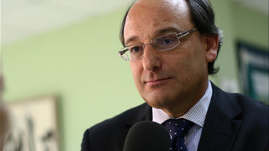 Peter Caruana, durante la entrevista
