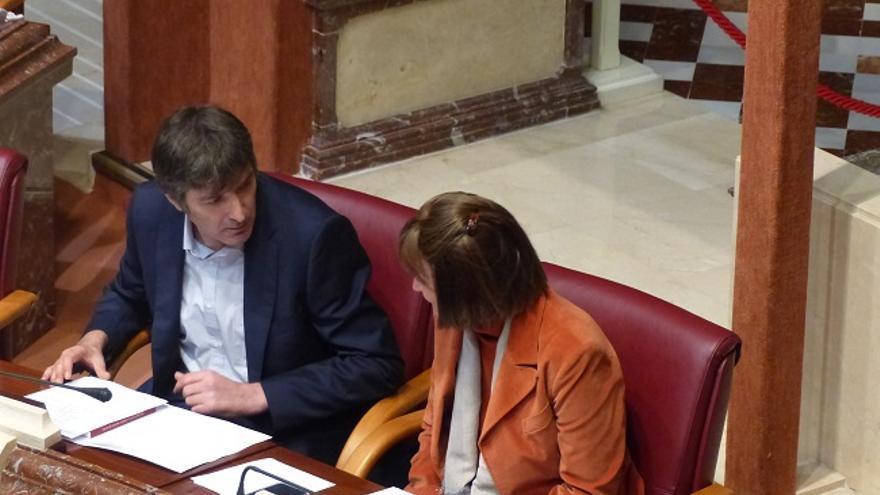 María Marín y Rafael Esteban, diputados de Podemos en la Asamblea Regional