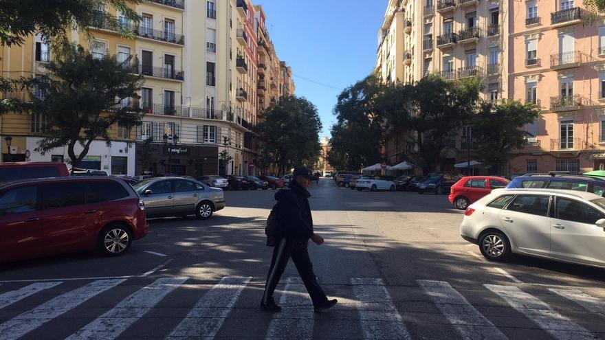 El cruce que albergará la primera 'supermanzana' de Valencia
