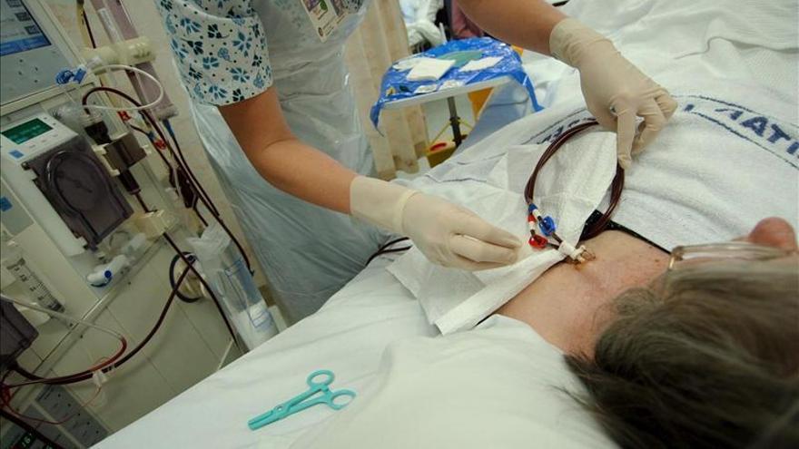 Un paciente de diálisis renal durante un tratamiento | EFE