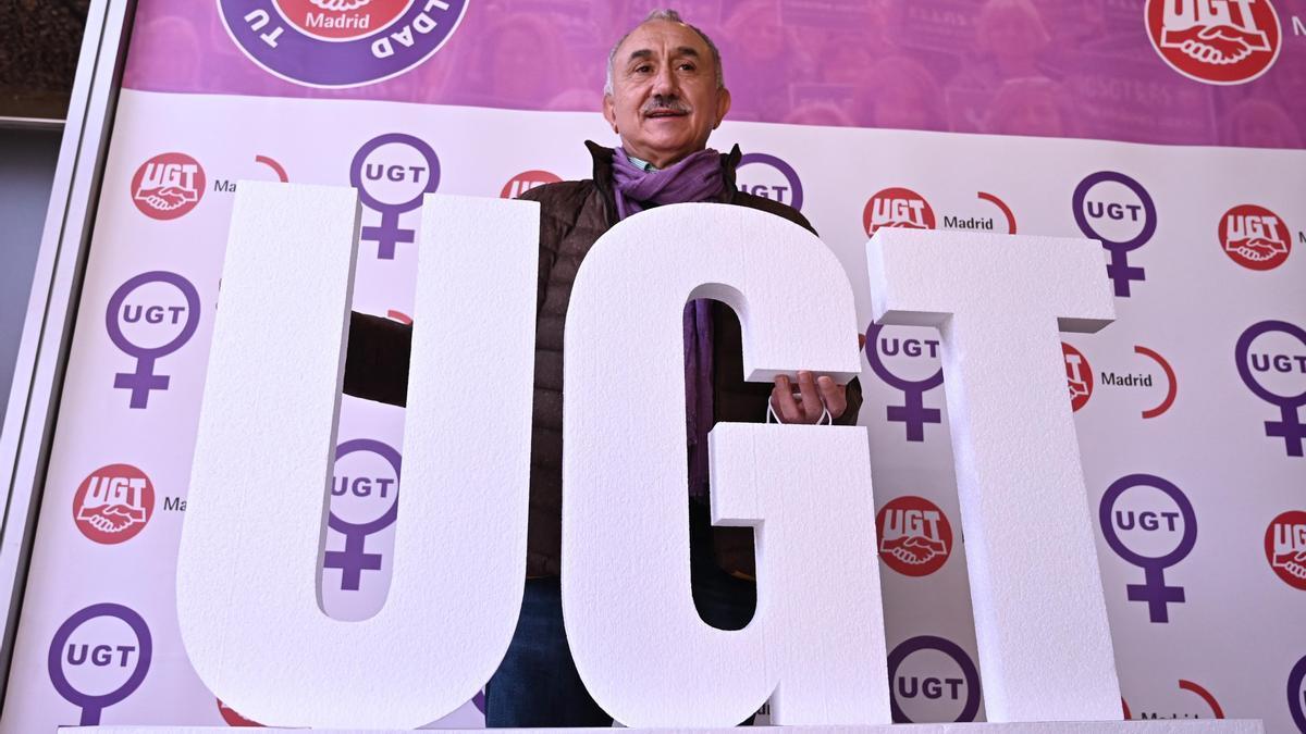 El secretari general d'UGT, Pepe Álvarez en una imatge d'arxiu. / EFE - Fernando Villar