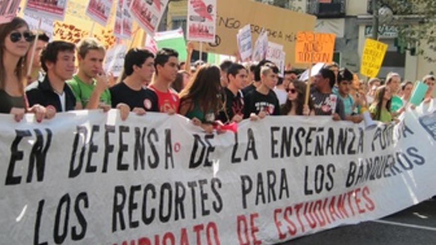 Estudiantes, Educación Pública, Recortes, Manifestación, Protesta