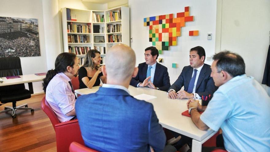 Unidas Podemos y CEOE coinciden en la necesidad de un Pacto por la Industria y cambiar el modelo productivo
