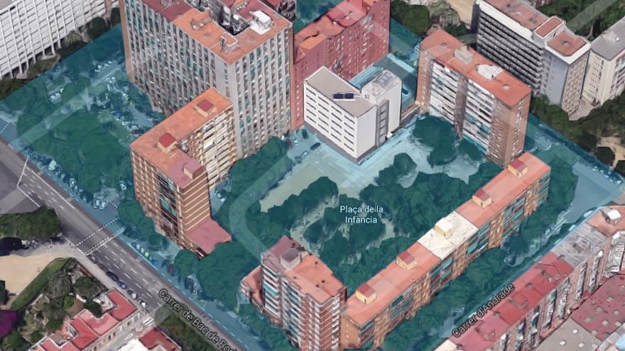 La aldea irreductible del PP en Barcelona, vista desde Google Maps