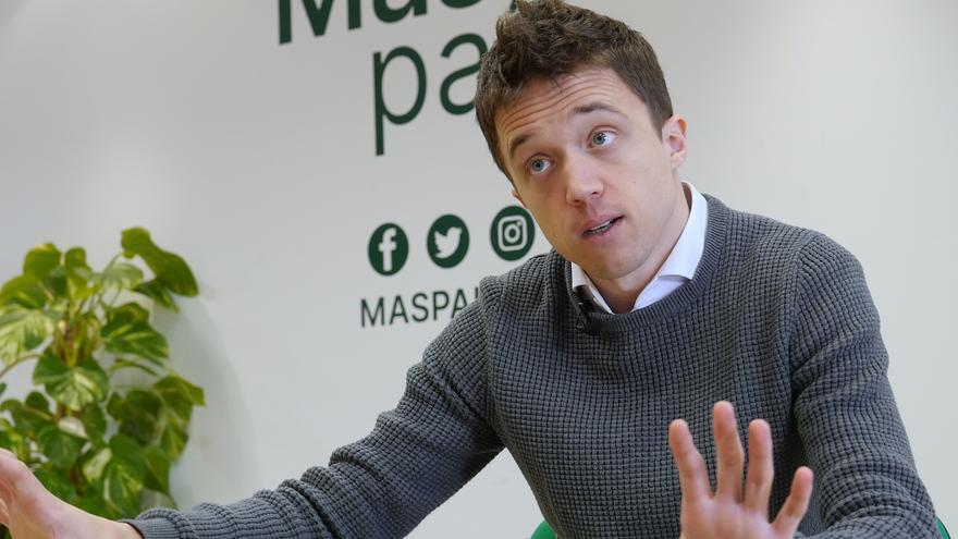 Íñigo Errejón, durante la entrevista en la sede de Más País en Madrid, el pasado jueves, 14 de mayo.