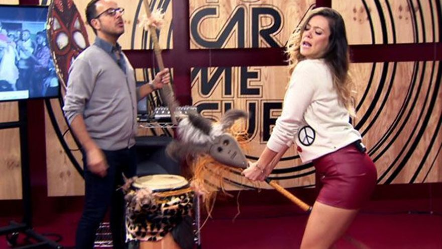 Lorena Gómez, sensual en 'Tu cara me suena' con 'La bicicleta' de Shakira
