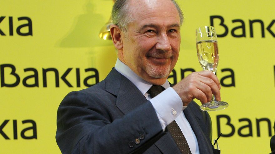 Rodrigo Rato, expresidente de Bankia, durante su salida a Bolsa.