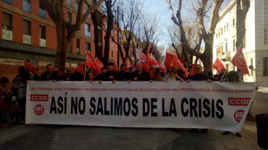 Manifestantes este domingo en Guadalajara