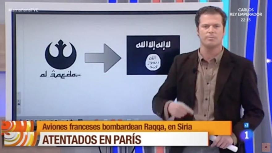 'La mañana' confunde el símbolo de Al Qaeda con el de Star Wars
