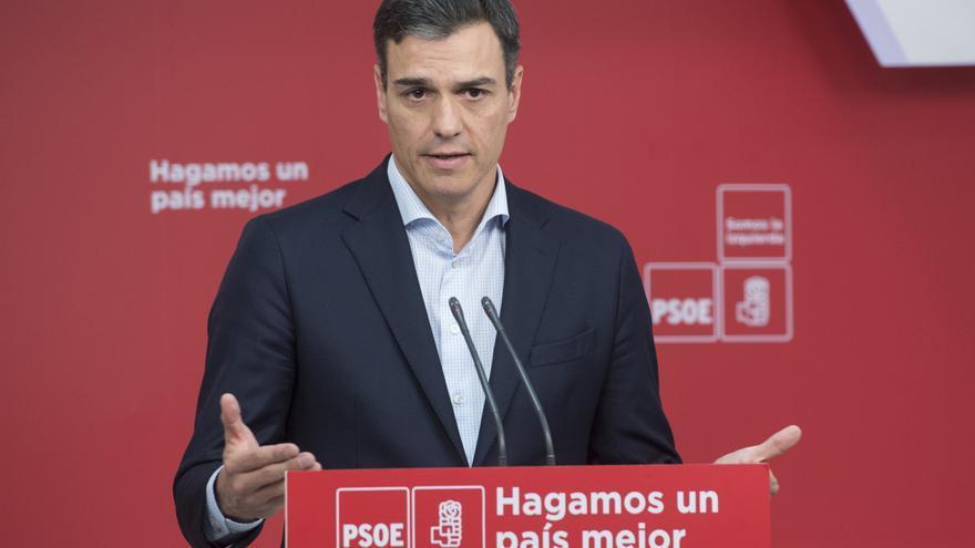 Rueda de prensa de Pedro Sánchez tras la reunión de la Ejecutiva del PSOE.