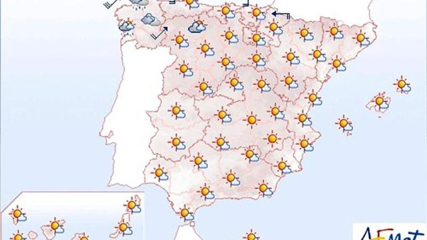 Mañana, viento fuerte en el litoral gallego y temperaturas en ascenso