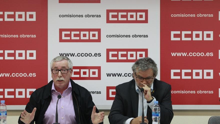 Ignacio Fernández Toxo y Fernando Lezcano. / Europa Press