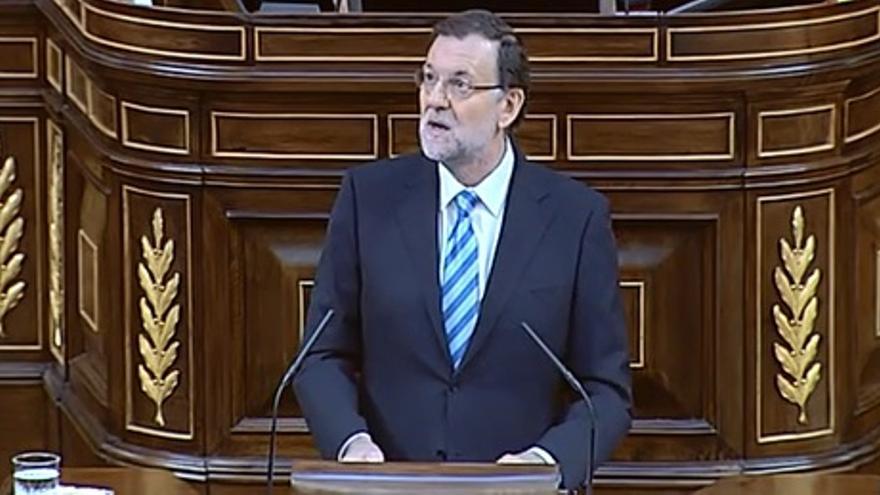 Rajoy durante el debate de la ley de abdicación