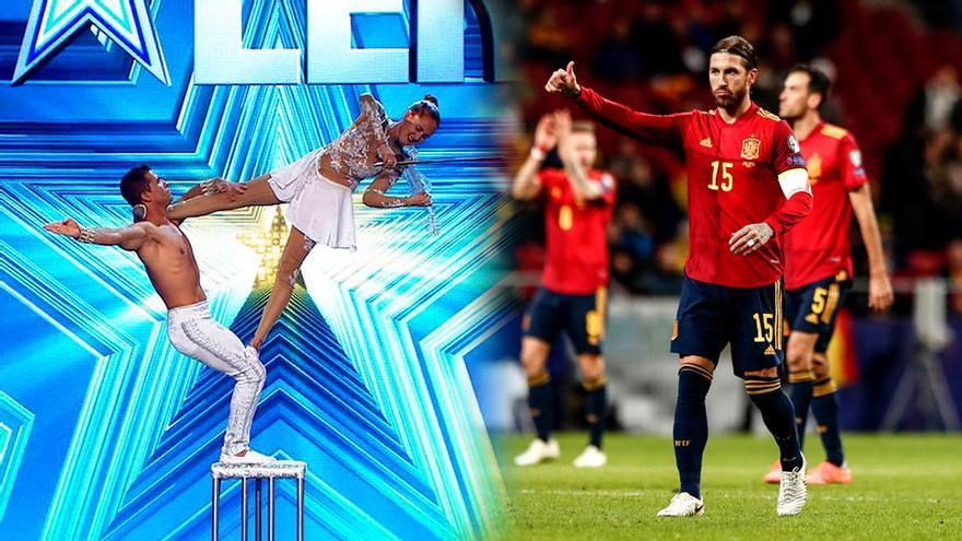 'Got Talent' y Ramos en el España-Rumanía
