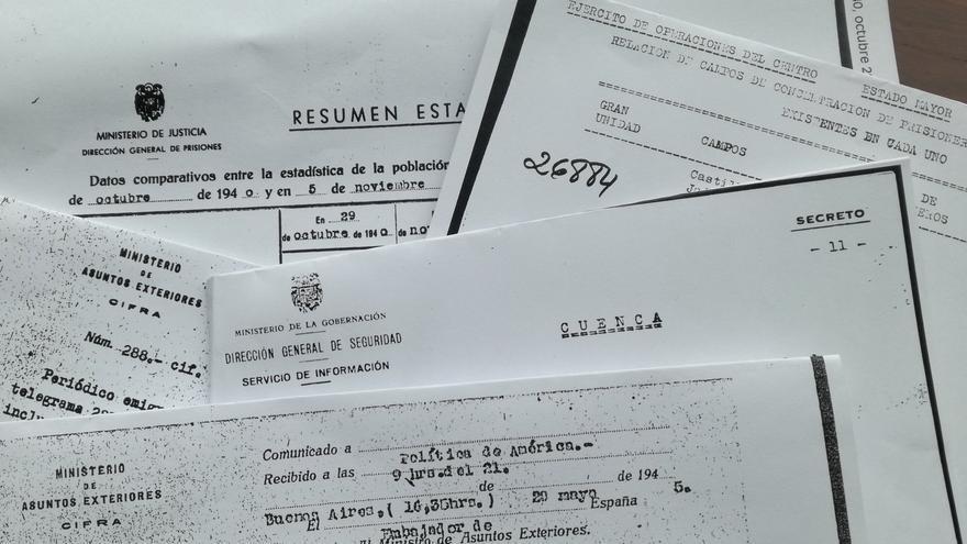 Algunos de los documentos oficiales que permanecen en la Fundación Francisco Franco